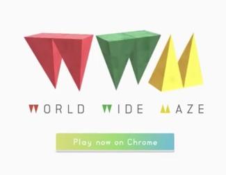 Chrome y el juego World Wide Maze