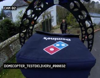 Los drones podrían repartir comida a domicilio del Domino's Pizzas